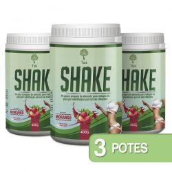 Shake - Sabor Morango - Kit 03 Frascos
