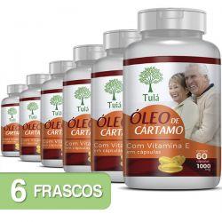 Óleo de Cártamo + Vitamina E - Kit 06 Frascos