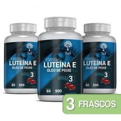 Luteína e Zeaxantina com Ômega 3 e Cártamo - Kit 3 Frascos