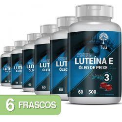 Luteína e Zeaxantina com Ômega 3 e Cártamo - Kit 6 Frascos